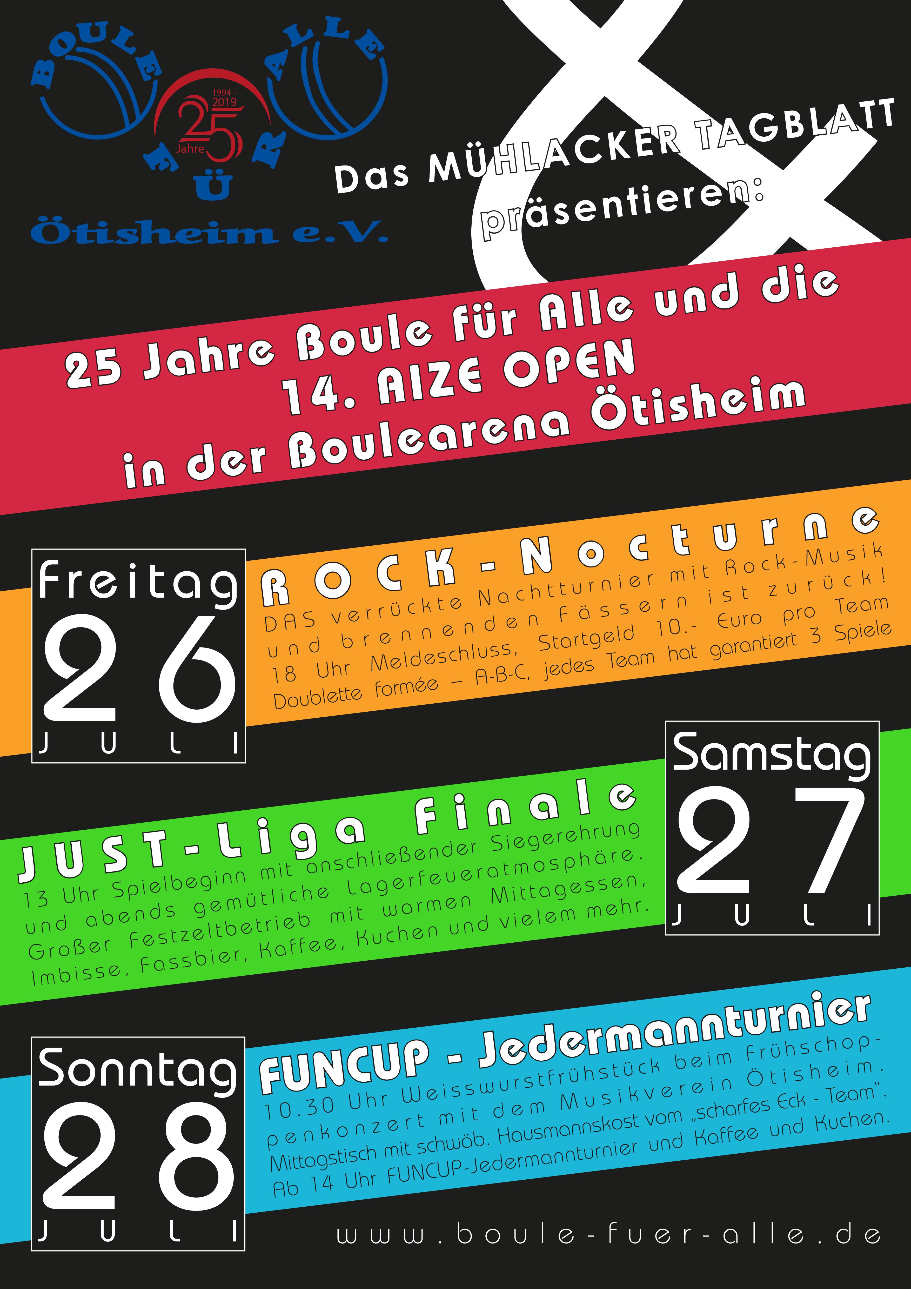 25 Jahre BOULE für ALLE in Ötisheim